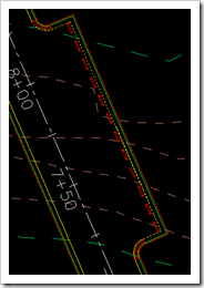 Feature Line for Parking Bays